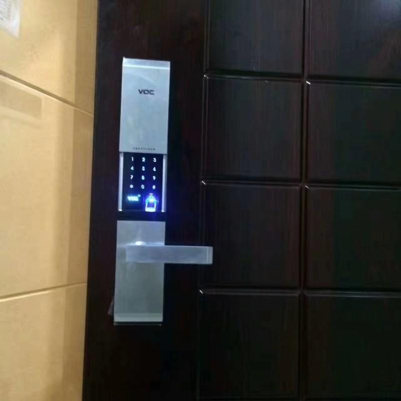 渝北区安装销售玻璃门指纹密码锁 人和销售家用防盗门指纹锁
