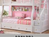 包邮实木儿童床上下床高低床子母床白色双层床带梯柜床