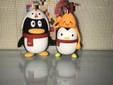 玩具厂开模定制 PVC环保材料 企鹅摆件公仔