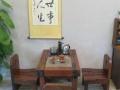 鞍山船木实木功夫茶几原生态仿古桌椅组合茶台厂家直销