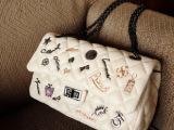 2014新款韩版女包批发 爆版 超美多勋章经典菱格包单肩包链条包
