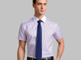 欧洲站男式衬衫中老年欧美大码男装夏装清仓高端厂家直销一件代发