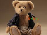 美版16寸皮夹克泰迪熊 正品原单熊熊 精品玩具 超值原单 支持混