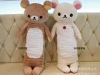 轻松熊抱枕 长形睡觉枕头毛绒玩具 可爱小熊公仔 男朋友抱枕