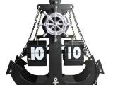海盗船翻页钟 创意齿轮钟 时尚客厅座钟 欧式帆船齿轮翻页台钟
