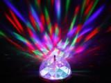 LED水晶魔球灯  KTV舞台旋转闪光灯 七彩3W实惠装