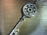 s925纯银太阳花项坠微镶银饰品 创意精