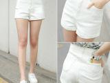 批发新款2015韩版宽松阔腿高腰牛仔短裤女夏季显瘦卷边大码时尚潮