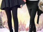 韩版春款 义乌打底裤假两件裙 包臀百褶裙裤弹力裤女 九分裤