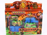 熊出没轨道玩具托马斯轨道火车套装儿童电动小火车头光头强系列