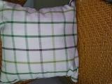 策叶纺织品提花格子靠垫套  抱枕 腰枕