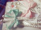 厂家直销!淘宝礼品 韩式清新蕾丝长款蝴蝶结珍珠项链 甜美挂链