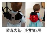 灰色蝙蝠瓢虫儿童书包 婴幼儿宝宝防走失背包幼儿园零食包可批发