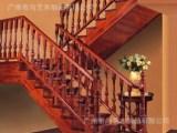 尚艺名梯塞维利亚榉木/榆木U型阁楼木楼梯扶手