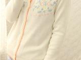外贸原单批发2013秋女装新款刺绣花朵长袖外套毛衣打底针织开衫