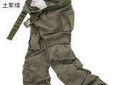 户外男士工装裤男长裤宽松大码多口袋迷彩裤男长裤正品休闲裤