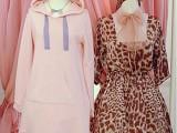 特批一件代发 日系可爱萌妹 Milk软妹荷叶边纯棉连帽连衣裙 女
