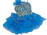儿童公主裙 舞台演出跳舞裙 亮片蓬蓬裙演出服 女童连衣裙