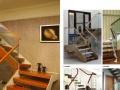钢木楼梯 铝镁护栏 玻璃护栏 室外护栏