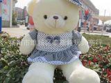 厂家直销新品戴帽穿衣服裙子的泰迪熊戴帽子的小熊公仔毛绒玩具