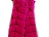 2014新款女士狐狸毛整皮中长款马甲芬兰进口皮草真皮正品不打孔
