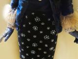 网店代理一件代发 小辣椒手工钉珠包臂裙针织半身裙短裙