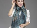欧美时尚外贸出口围巾 批发豹纹拼接渐变色巴厘纱围巾