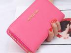 韩版大容量多卡位牛皮女士钱包长款真皮钱夹女式手机包拉链手拿包