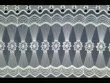 爆款 网布满幅刺绣花边 蕾丝面料 牛奶丝水溶花边 精美窗帘花边