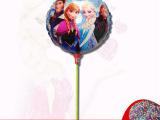 2014外贸新款 欧美可爱冰雪奇缘卡通铝膜气球儿童玩具气球批发