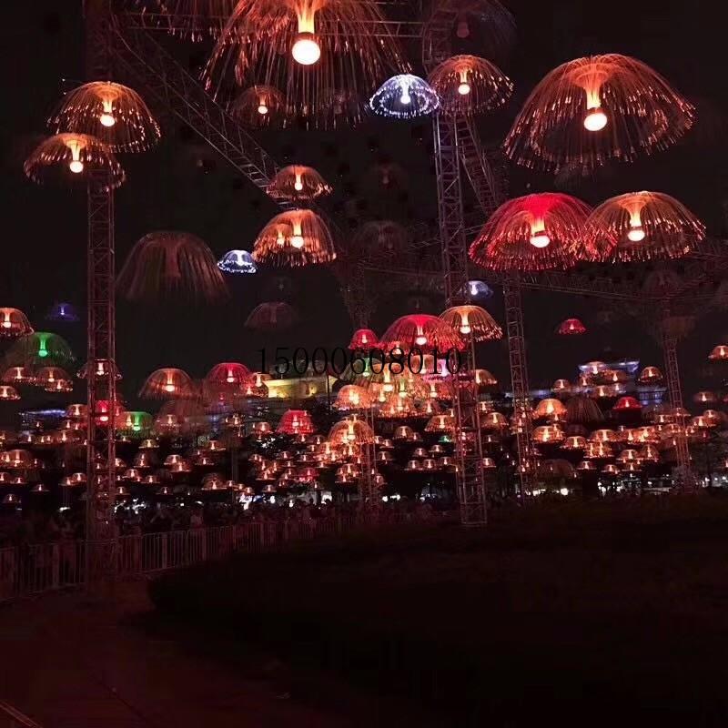 水晶烟花灯柱出租价格 发光升降水母灯厂家
