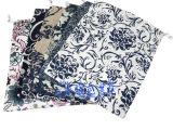 青花瓷纯麻布袋 麻布束口袋 礼品包装袋 麻布袋批发(24*30c