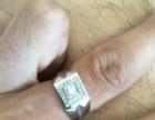 18k白金钻戒