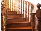 圆弧形实木别墅楼梯 高档柚木定制楼梯 工厂设计楼梯款式