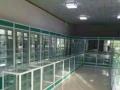 钛合金玻璃柜化妆品展柜文玩玉器展柜药店药品柜烤漆柜