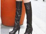 2013新款长靴子冬 女 高跟过膝靴 高筒细跟女靴子春秋中长靴