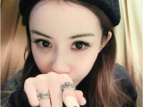 青岛欧美外贸饰品厂家批发 克罗心复古明星款花字母戒指指环A-40
