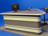 耀诺播音主持桌导播桌新闻访谈桌直播台播音台校园演播桌
