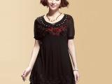 韩版夏装大码爆款高档蕾丝气质连衣裙 品牌加肥胖MM服装尾货批发