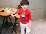 6元创意爆款儿童卫衣 童装打底衫 韩版撞色圆领长袖卫衣