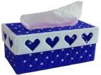批发立体3D手工十字绣纸巾盒 四心纸巾盒
