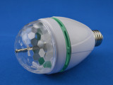 厂家直销 LED小水晶魔球 迷你水晶球 七彩旋转灯 3WRGB旋