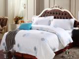 酒店布草床上用品全棉贡缎印花被套厂家批发