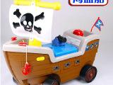 新款 海盗船儿童学步车 滑行车 配玩具