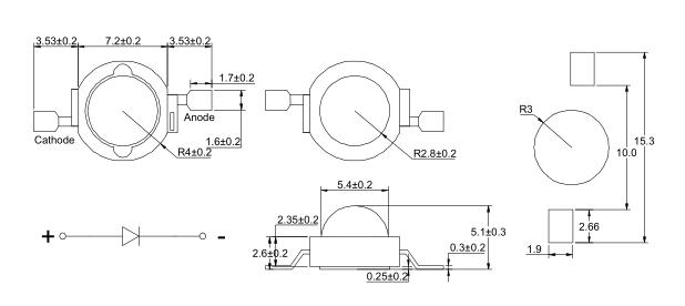 3W仿流明大功率LED系列