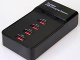 4口usb充电器 多口usb快充充电器 4口带开关usb充电器