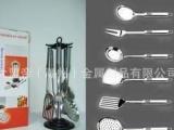 【厂家直销】不锈钢厨具七件套 五线管柄塑