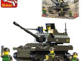 小鲁班积木塑料拼插拼装玩具益智儿童 陆军部队K-9坦克
