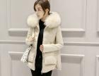 女装冬装新款毛领外套收腰短款潮羽绒服