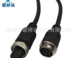 厂家供应6芯航空插头传感器,机械设备面板延长连接线